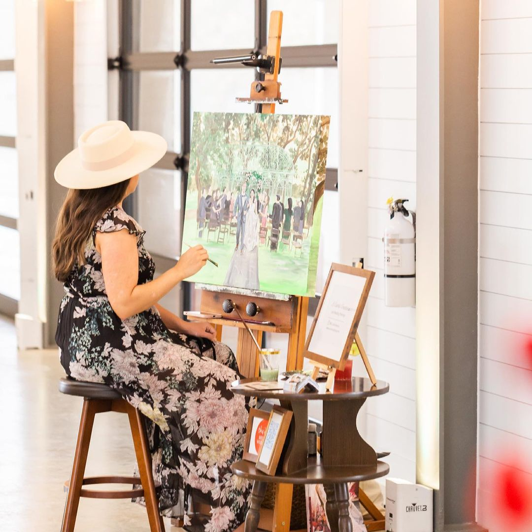 Our Latest Wedding Obsession Explained –All the Info on Live Painting