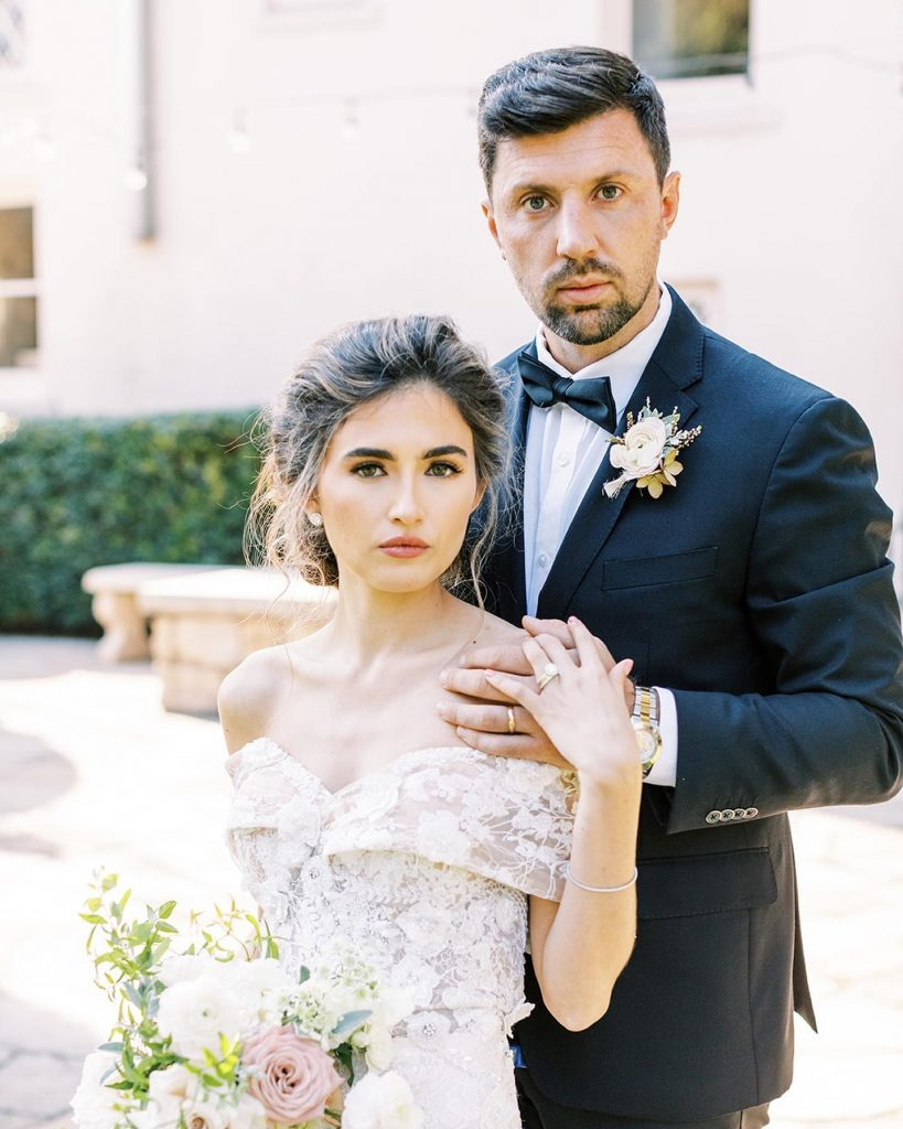 """Say """"I do"""" amid the lush green tropical paradise of contemporaryatx – Laguna Gloria surrounded by elegant pale pink and"""