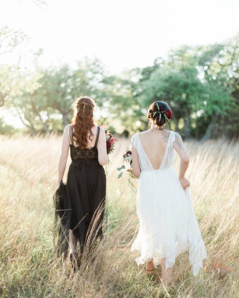 Calling all non-traditional brides! Today's edgy bridal inspo styled shoot is for you! Here's to the Mrs. + Mrs. &