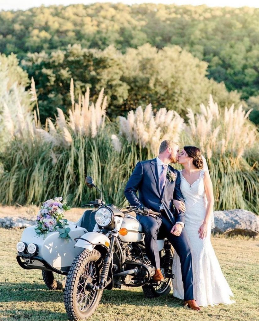 Tag your ride or die! Jesse & Chantelle's picture perfect wedding at themilestoneboerne is just what we need on a