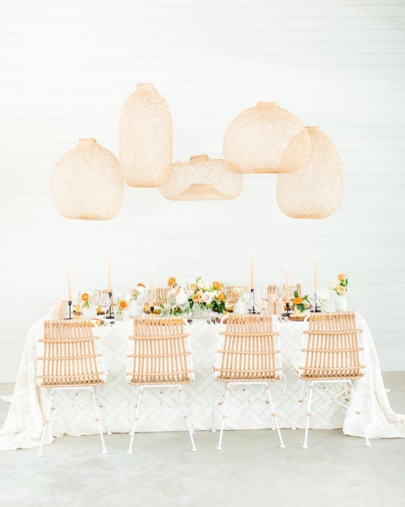 Summer in the Hamptons feels a lot like this bright, breezy and boho shoot at maesridge. With citrus blooms from