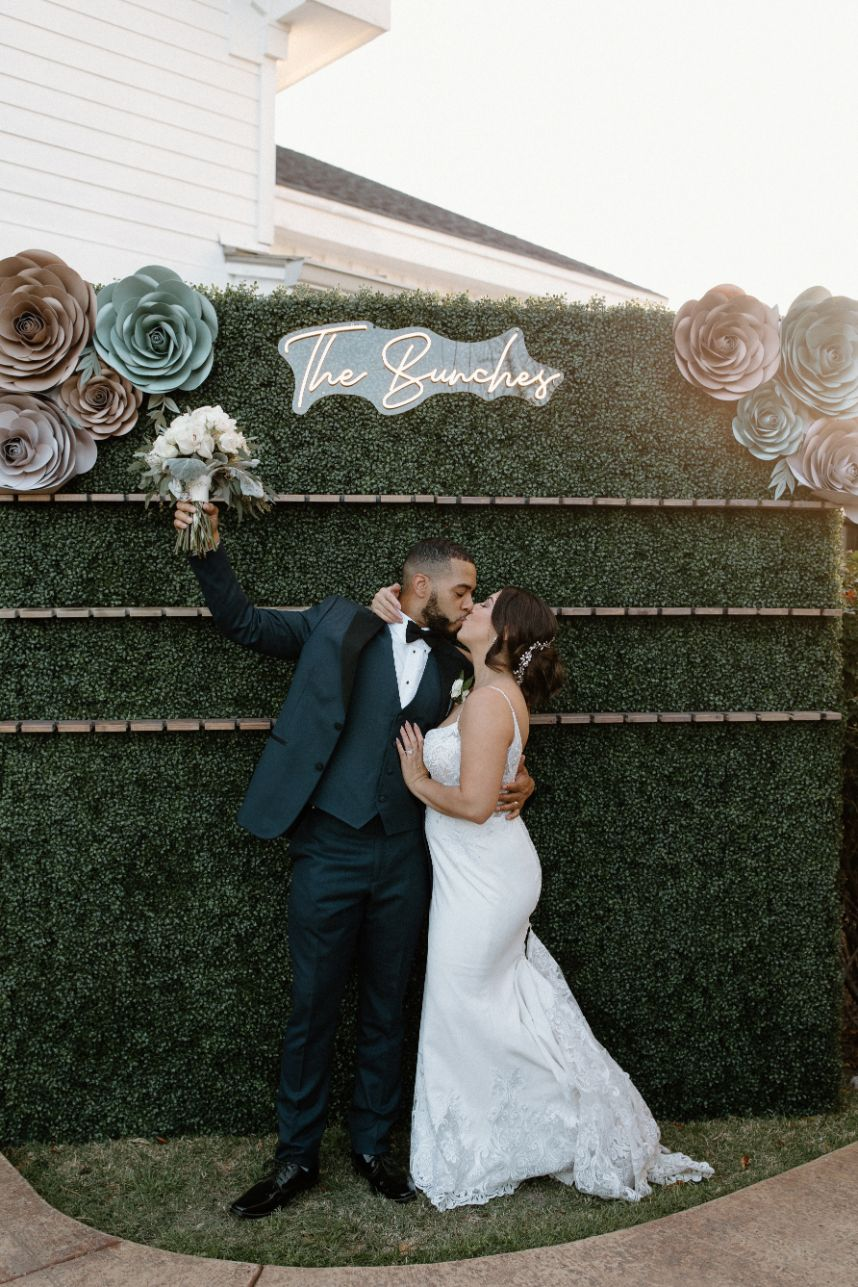 A Simple Outdoor Wedding with Subtleties of Greenery